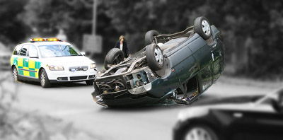First Aid required in road accident in Greece