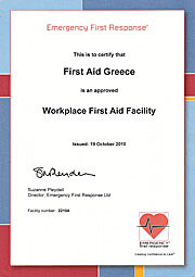 First Aid Greece is authorised to teach EFR programmes